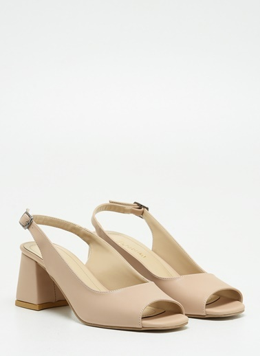 F By Fabrika F By Fabrika Farah Çok Renkli Kadın Kalın Topuklu Ayakkabı Bej